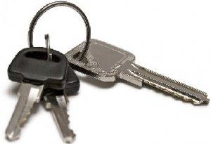 car keys on ring