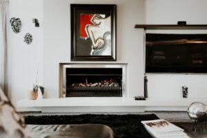 Paint and Caulking Fireplace
